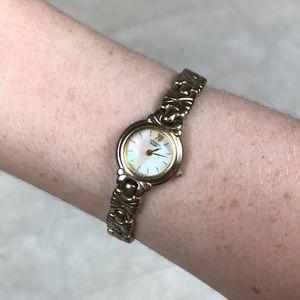 Citizen vintage gold bracelet watch quartz Japan